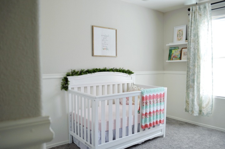 Our simple & sweet baby girl nursery